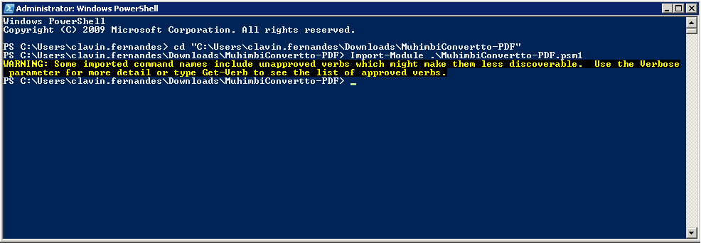 MuhimbiConvertTo-PDF PowerShell Module – Clavin's Blogs