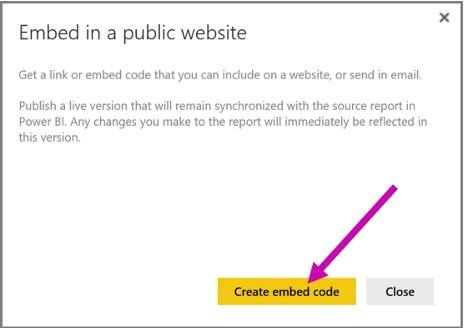 Create embed code